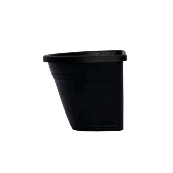 Vaso de parede - preto - 11 x 15 cm