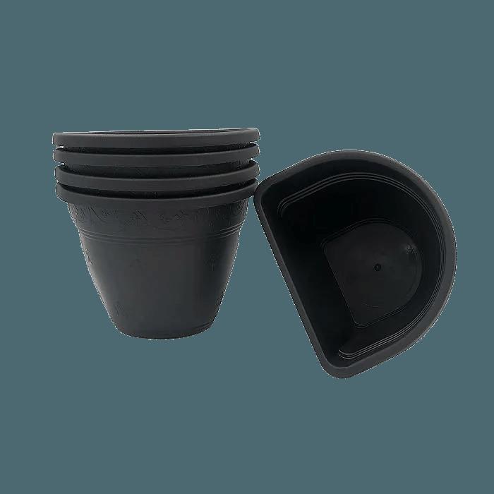 Vaso de parede - preto - 11 x 15 cm - Kit 05 un