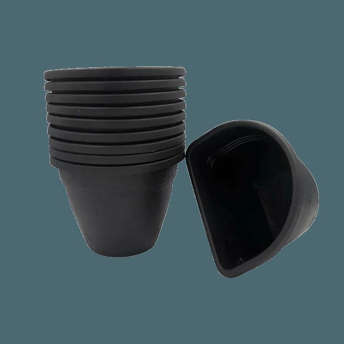 Vaso de parede - preto - 11 x 15 cm - Kit 10 un