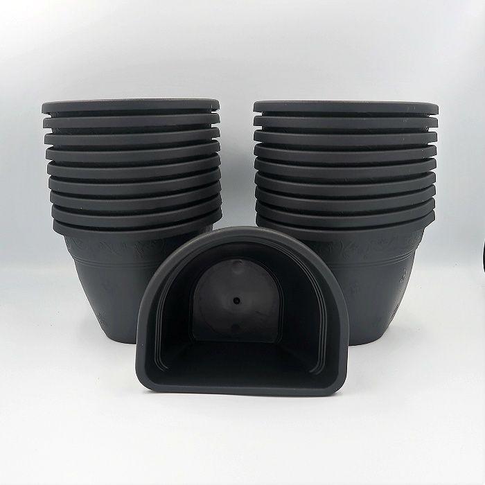 Vaso de parede - preto - 11 x 15 cm - Kit 24 un