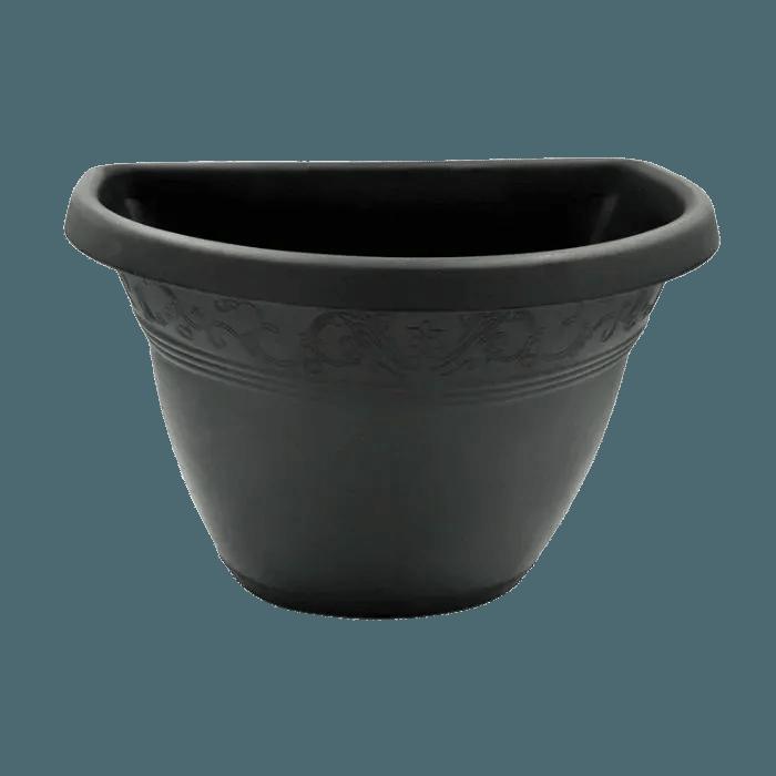 Vaso de parede - preto - 17 x 23 cm - Kit 10 un