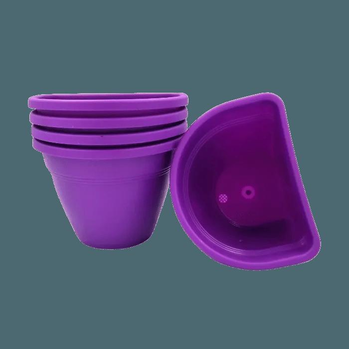 Vaso de parede - roxo - 11 x 15 cm - Kit 05 unid