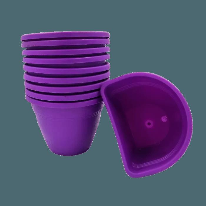 Vaso de parede - roxo - 11 x 15 cm - Kit 10 unid