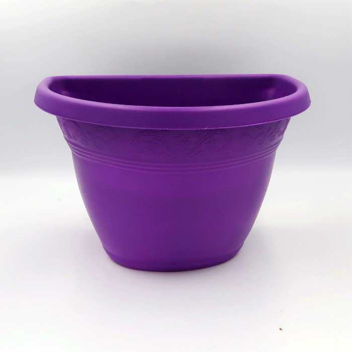 Vaso de parede - roxo - 17 x 23 cm - Kit 05 un