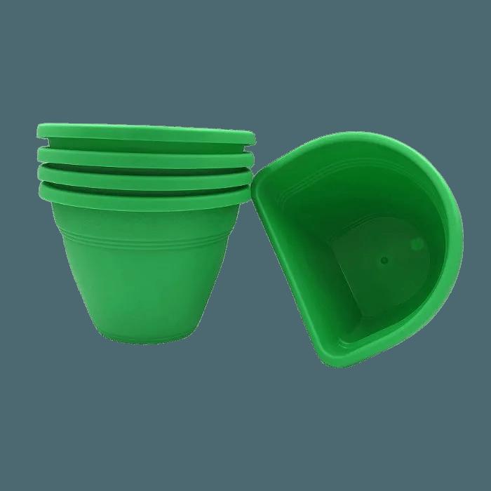 Vaso de parede - verde - 11 x 15 cm - Kit 05 un