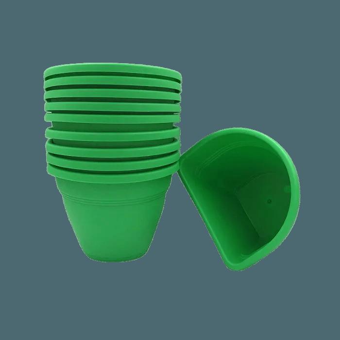 Vaso de parede - verde - 11 x 15 cm - Kit 10 un