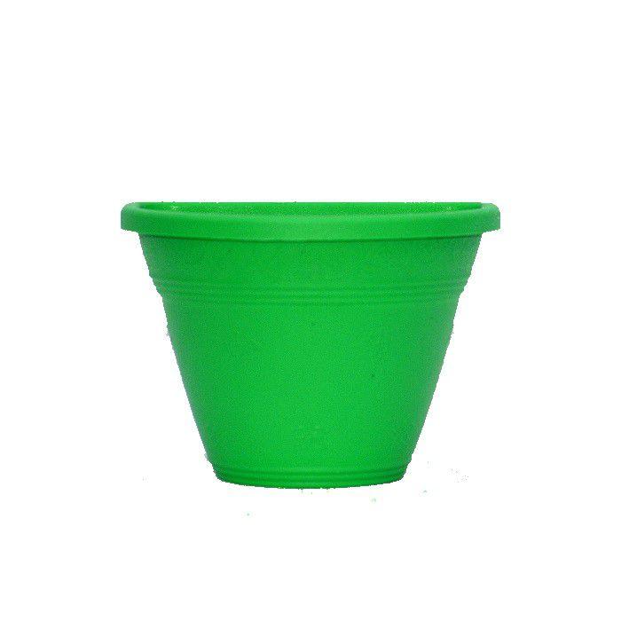 Vaso de parede - verde - 15 cm - Kit 24 un + brinde