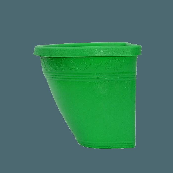 Vaso de parede - verde - 17 x 23 cm