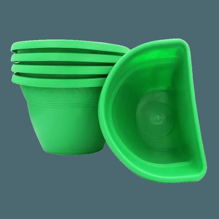 Vaso de parede - verde - 17 x 23 cm - Kit 05 un