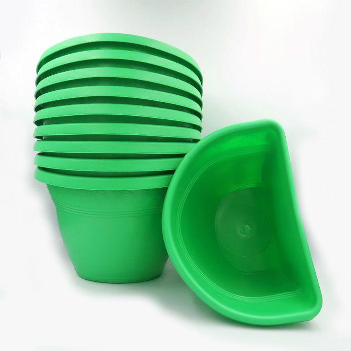 Vaso de parede - verde - 17 x 23 cm - Kit 10 un