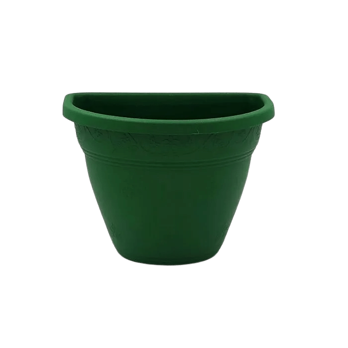 Vaso de parede - verde escuro - 11 x 15 cm - Kit 05 un