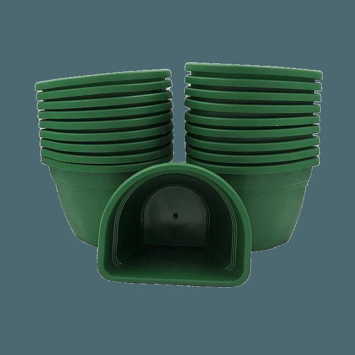Vaso de parede - verde escuro - 11 x 15 cm - Kit 24 un