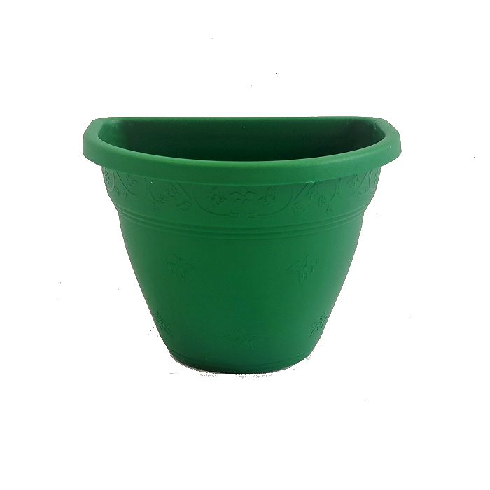 Vaso de parede - verde escuro - 15 cm - Kit 30 un + brinde