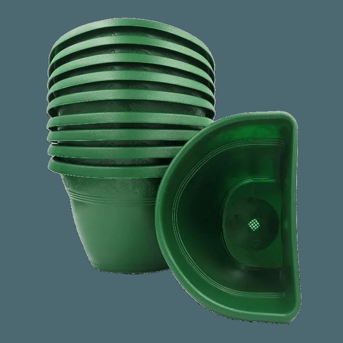 Vaso de parede - verde escuro - 17 x 23 cm - Kit 10 un