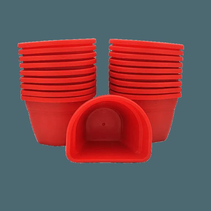Vaso de parede - vermelho - 11 x 15 cm - Kit 24 un