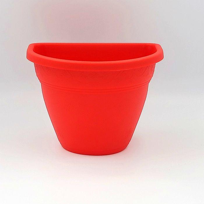 Vaso de parede - vermelho - 11 x 15 cm - Kit 05 un
