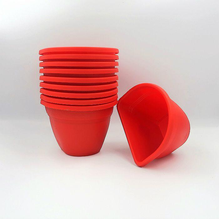 Vaso de parede - vermelho - 11 x 15 cm - Kit 10 un
