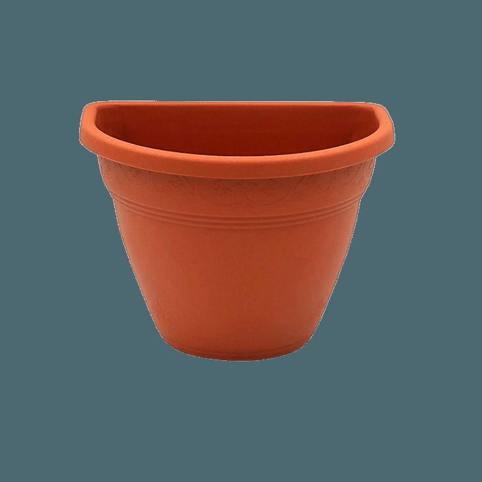 Vaso de parede - vicenza - marrom - 11 x 15 cm