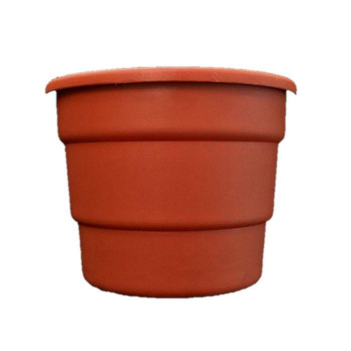 Vaso plastico cerâmica modelo roma - 15 X 19 cm - kit 06 un
