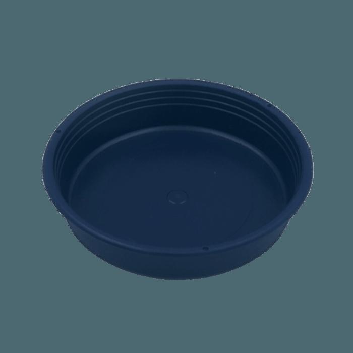 Vaso plastico com prato - azul marinho - 10 x 13 cm - kit 03 unid