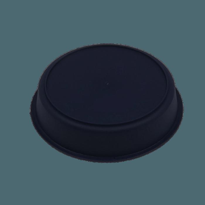 Vaso plastico com prato - preto - 10 x 13 cm - kit 06 unid