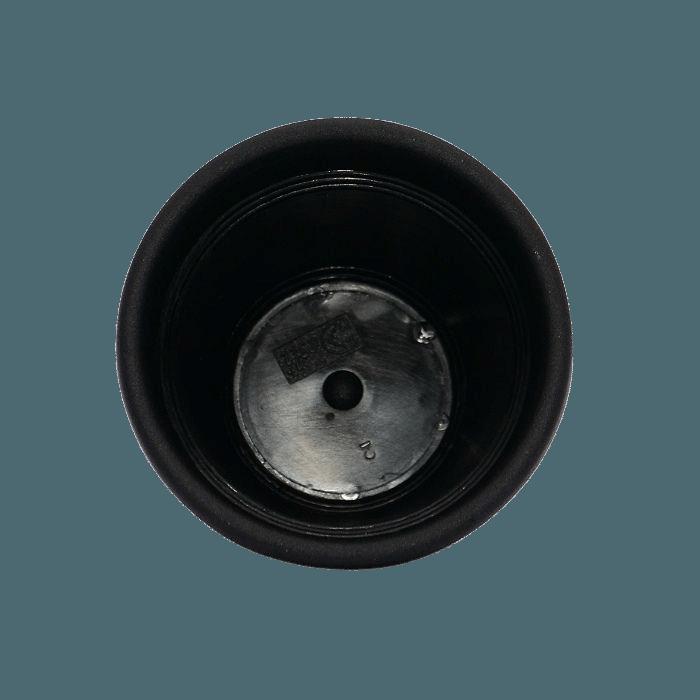 Vaso plastico com prato - preto - 10 x 13 cm - kit 12 unid