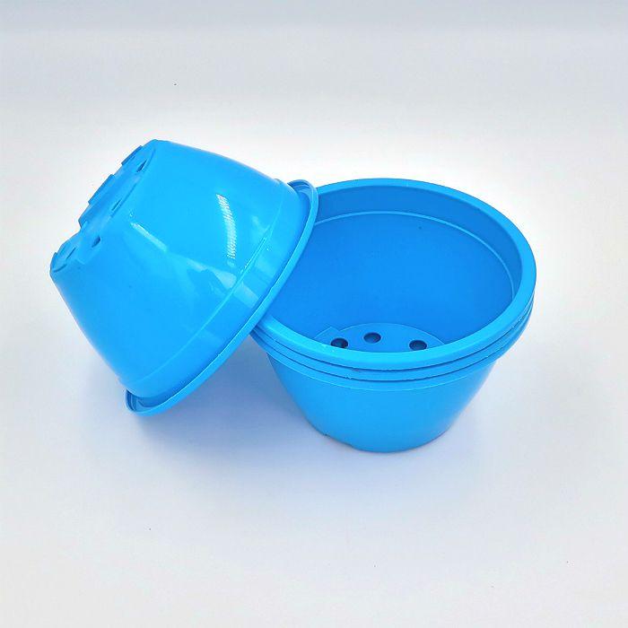 Vaso plastico - cuia 07 x 13 - azul - kit 05 un