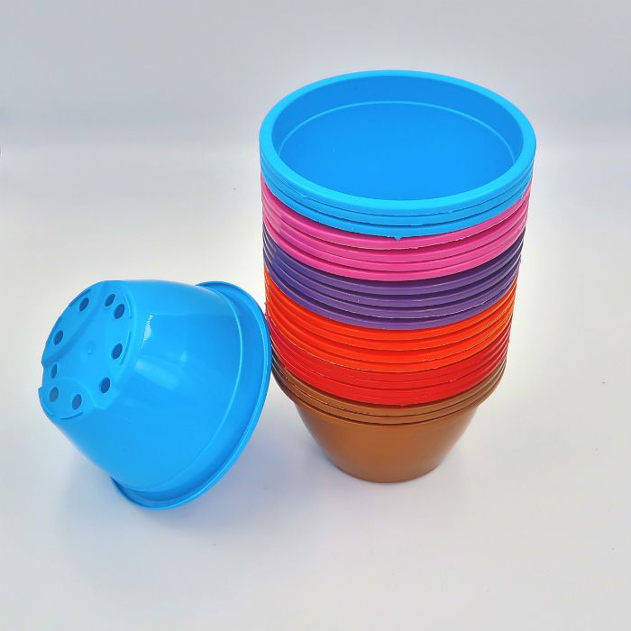 Vaso plastico - cuia 07 x 13 - colorida - kit 05 un