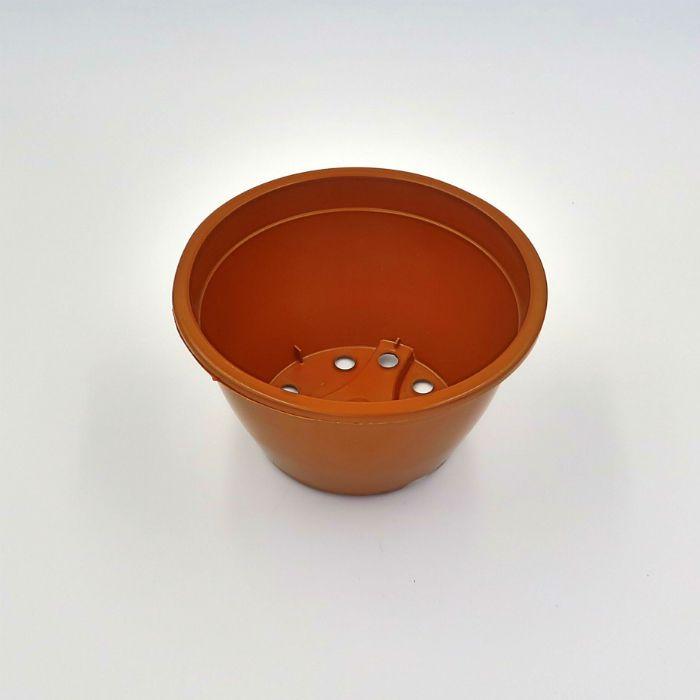 Vaso plastico - cuia 07 x 13 - marrom - kit 10 un