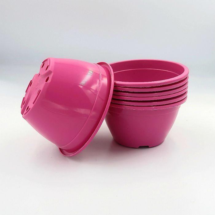 Vaso plastico - cuia 07 x 13 - rosa - kit 10 un