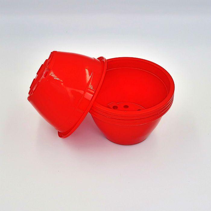 Vaso plastico - cuia 07 x 13 - vermelho - kit 10 un