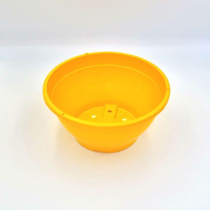 Vaso plastico - cuia 10 X 21 - amarelo - kit 10 un