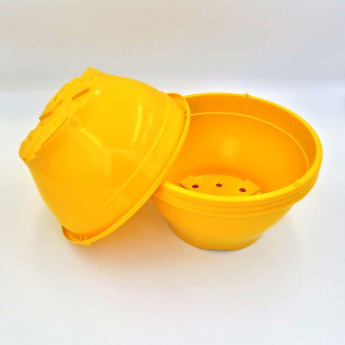 Vaso plastico - cuia 10 X 21 - amarelo - kit 18 un