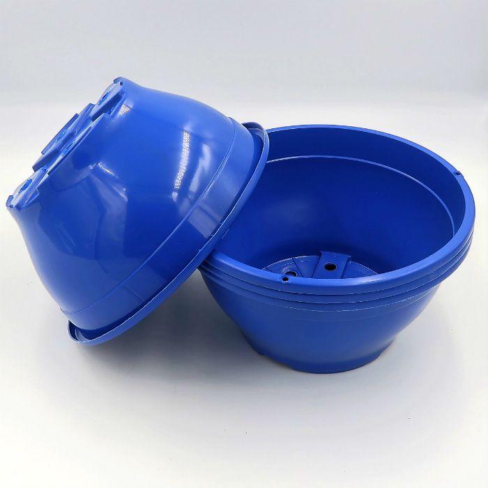 Vaso plastico - cuia 10 X 21 - azul escuro - kit 18 un