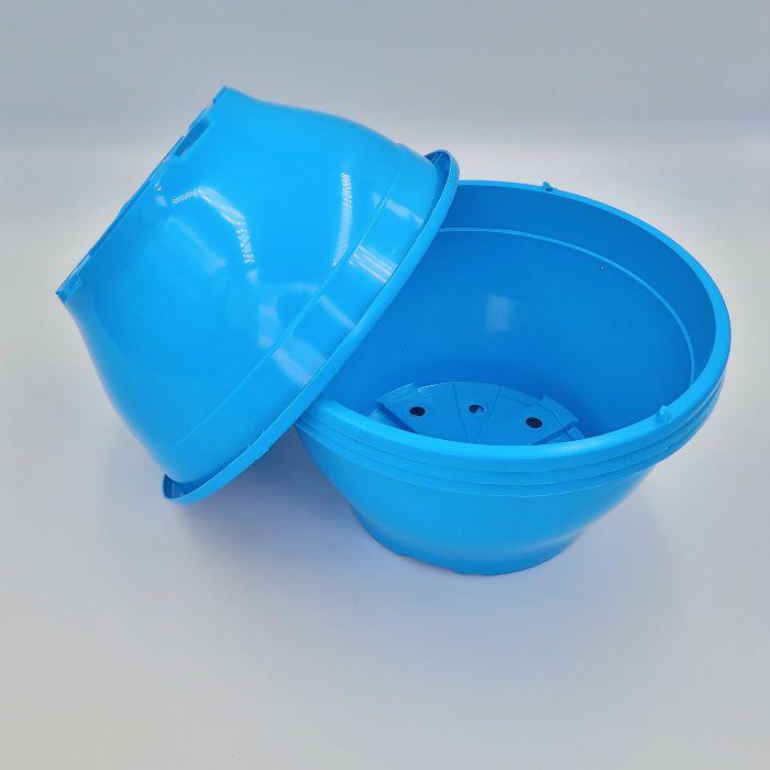 Vaso plastico - cuia 10 X 21 - azul - kit 18 un