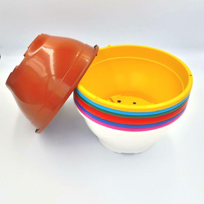 Vaso plastico - cuia 10 X 21 - coloridos - kit 18 un