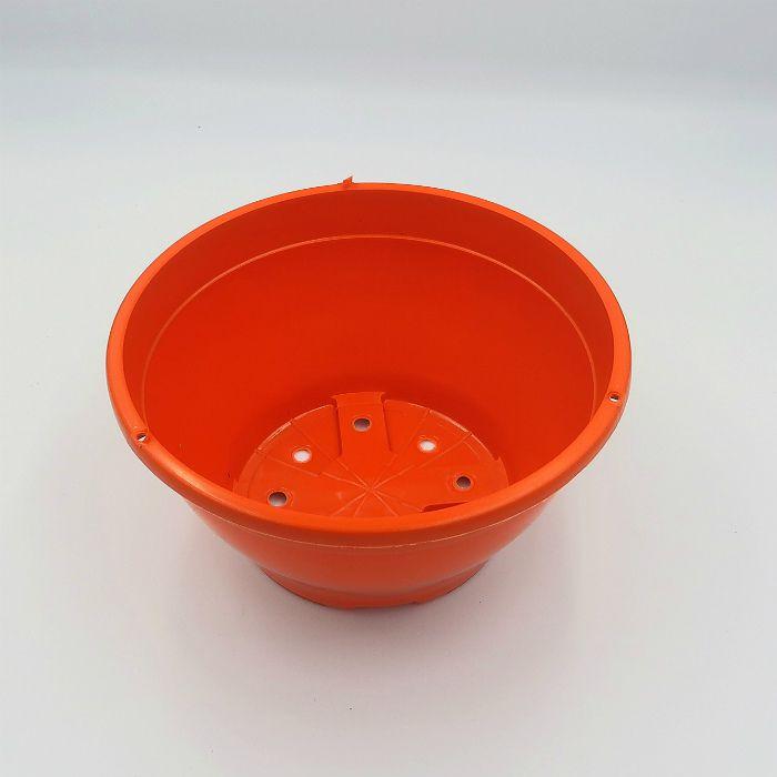 Vaso plastico - cuia 10 X 21 - laranja