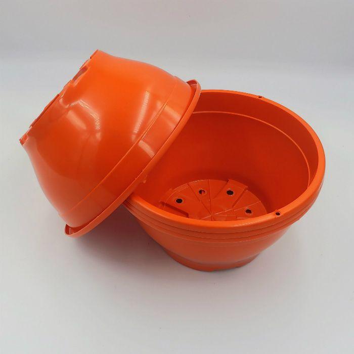 Vaso plastico - cuia 10 X 21 - laranja - kit 10 un