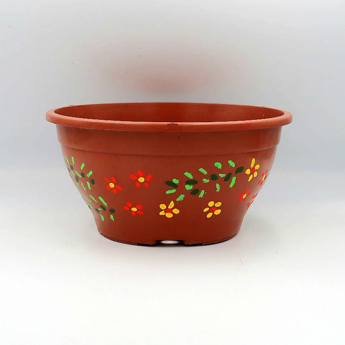 Vaso plastico - cuia 10 X 21 - pintado a mão - kit 06 un
