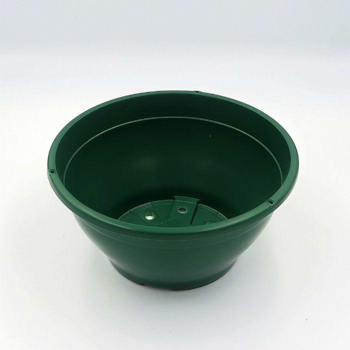 Vaso plastico - cuia 10 X 21 - verde escuro