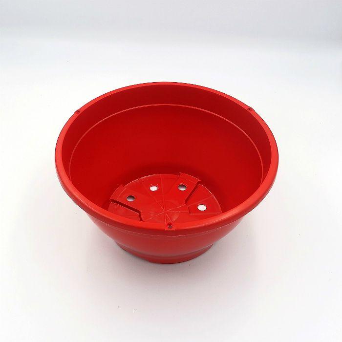 Vaso plastico - cuia 10 X 21 - vermelho - kit 05 un