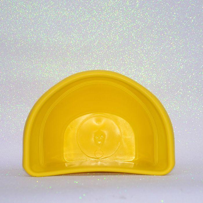Vaso plástico de parede - vicenza - amarelo - 23 cm