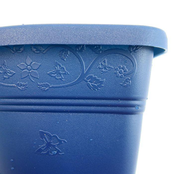 Vaso de parede - azul marinho - 15 cm - Kit 24 un + brinde