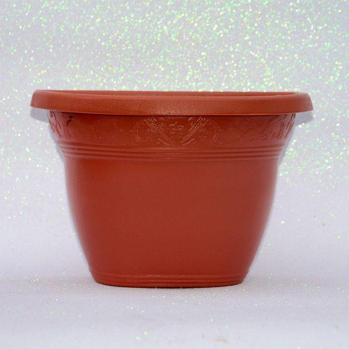 Vaso plástico de parede - vicenza - ceramica - 23 cm - kit 05 un
