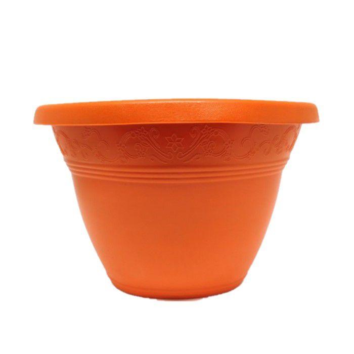 Vaso plástico de parede - vicenza - laranja - 15 cm
