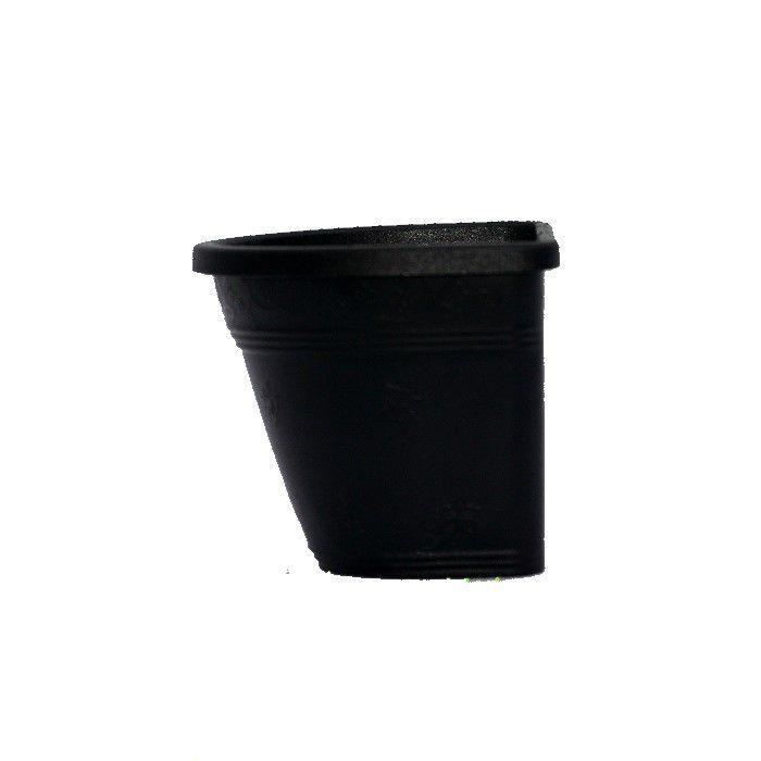 Vaso de parede - preto - 15 cm - Kit 24 un + brinde