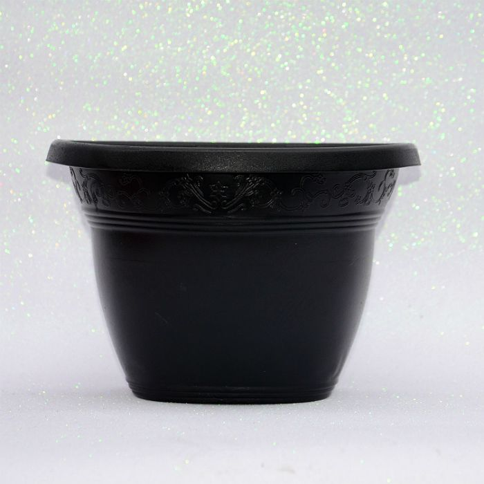 Vaso plástico de parede - vicenza - preto - 23 cm