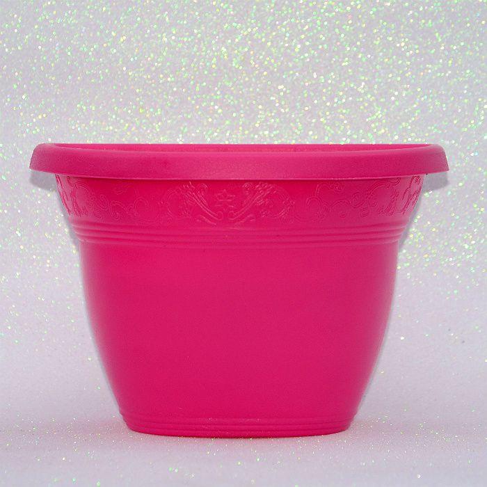 Vaso plástico de parede - vicenza - rosa - 23 cm - kit 05 un