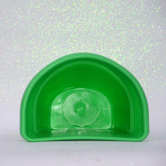 Vaso plástico de parede - vicenza - verde - 23 cm - kit 05 un