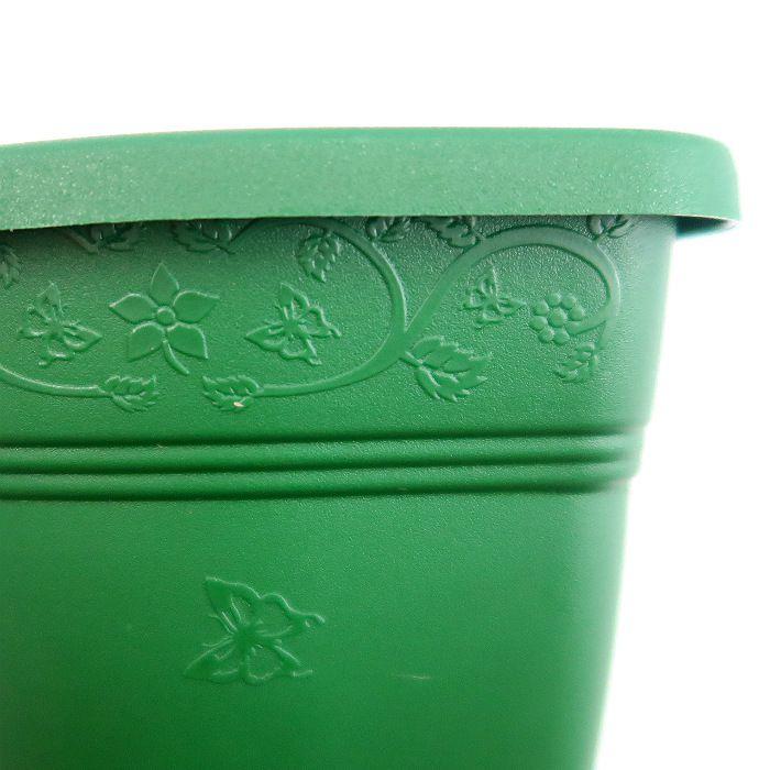 Vaso de parede - verde escuro - 15 cm - Kit 05 un + brinde